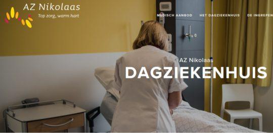 Vernieuwde website voor het dagziekenhuis AZ Nikolaas